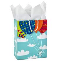 "Hallmark 9"" Medium Gift Bag with Tissue Paper (Balloons in Clouds) for Birthdays, Baby Showers, Kids Parties or Any Occasion"