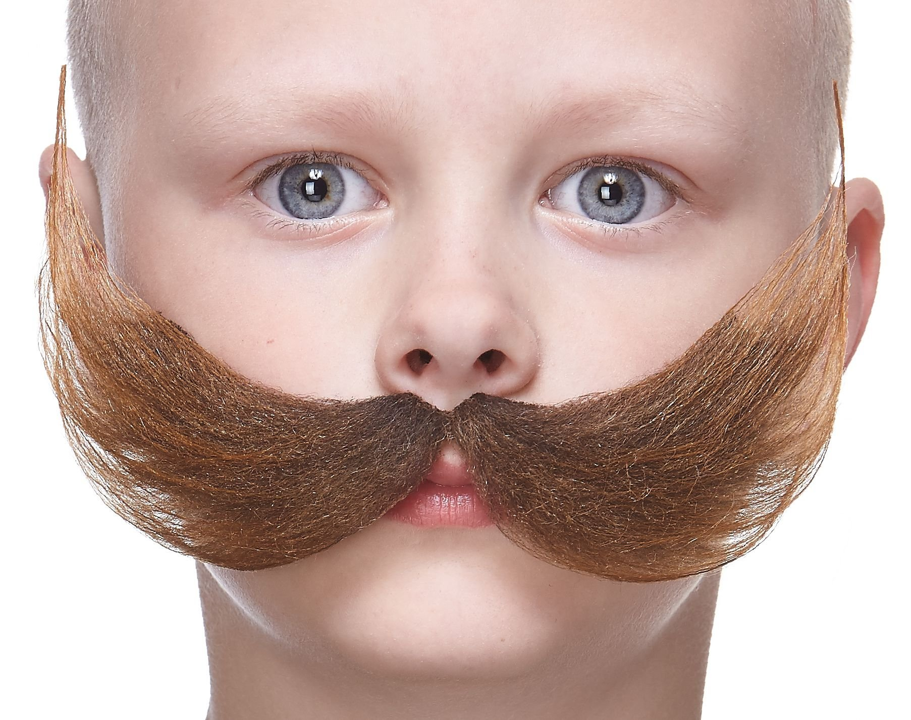 Mustaches Fake Mustache, Self Adhesive, Novelty, Small Fisherman's False Facial Hair, Costume Accessory for Kids