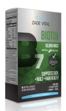 Zade Vital Biotin (Vitamin B7), Support Skin&Nail&Hair Health, Dietary Supplement, Enriched with 100% Cold Press Nettle Seed-Coconut Oil, 10,000 MCG 60 Softgels, Non GMO, Kosher, GMP, 2 Months Supply