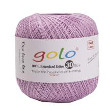 golo Crochet Thread for Hand Knitting Size 30 Lilac Colour Yarn
