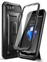 SupCase Unicorn Beetle Pro Series Case Designed for iPhone SE 2nd Generation 2020 / iPhone 7 / iPhone 8, Built-in Screen Protector Full-Body Rugged Holster & Kickstand Case (Black)