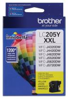 Brother Printer LC205Y Super High Yield Ink Cartridge, Yellow