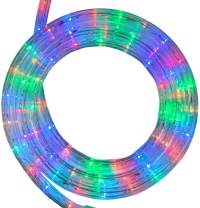 Wintergreen Lighting 18' LED Multi Color Rope Light, LED Flexible Light Rope String Light Outdoor – LED Light Rope Bedroom LED Light Rope, 120V, ½ Inch, 2-Wire (18 ft, Multicolor)