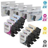LD Compatible Ink Cartridge Replacement for Brother LC61 Series (2 Black, 2 Cyan, 2 Magenta, 2 Yellow, 8-Pack)