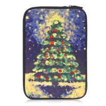 MoKo 9-10.5 Inch Sleeve Bag, Portable Neoprene Case Cover Fit iPad 10.2 2019, iPad Air 3 10.5, iPad Pro 10.5, iPad 9.7 6th Generation, iPad Air 2, Galaxy Tab A 10.1 - Christmas Tree Painting