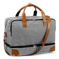 Newshows Women Weekender Bag Canvas Travel Duffel Bag Overnight Carry On Tote Bag with Laptop Compartment