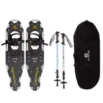 OUTBOUND Snowshoe Kit | Lightweight Aluminum Snowshoes with Adjustable Poles and Bag | Men and Women
