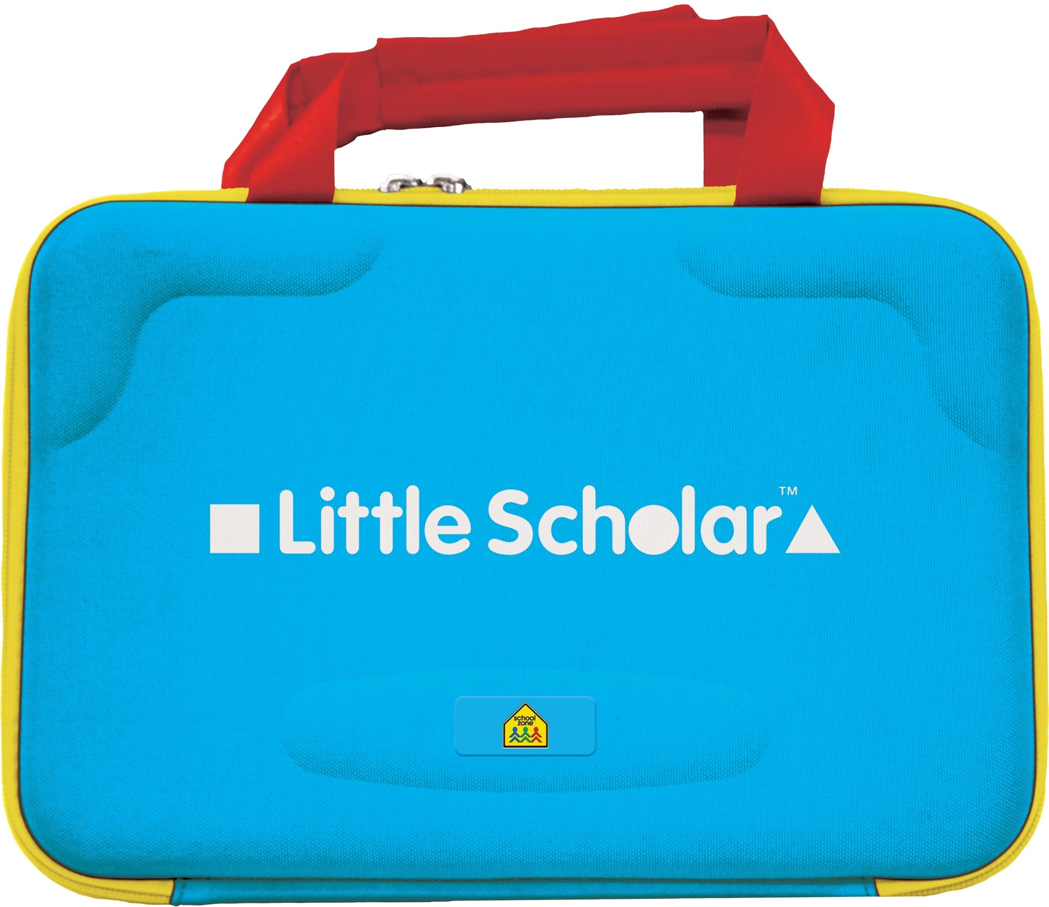"""School Zone - Little Scholar Kids Learning Tablet Protective Carrying Case - Ages 3 to 7, Fits up to 8"""" Tablets, Zip Closure, Inside Pockets, Hard Shell, Handles, Durable, Lightweight"""