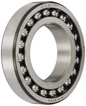 SKF 1206 EKTN9 Double Row Self-Aligning Bearing, Tapered Bore, ABEC 1 Precision, Open, Plastic Cage, Normal Clearance, Metric, 30mm Bore, 62mm OD, 16mm Width