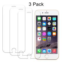 iPhone 6 Plus Screen Protector, iPhone 6s Plus Screen Protector, Wisdompro 0.33mm Clear Tempered Glass Screen Protector for iPhone 6 Plus 6s Plus -3 Pack