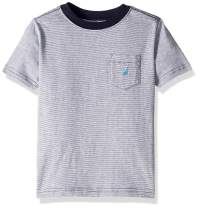 Nautica Boys' Short Sleeve Solid Crew-Neck Pocket T-Shirt
