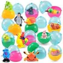 JOYIN 12 Pieces Easter Eggs Prefilled with Assorted Wind-up Toys Easter Basket Stuffer for Kids Easter Egg Stuffer Filler Party Favors