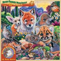MasterPieces Real Wood Tray Jigsaw Puzzle Desert Friends, Mom's & Preferred Choice Awards, STEM Product, 48 Pieces, For Ages 4+