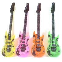 Fun Central 12 Packs - 42 Inches Inflatable Guitars Pool Toy for Kids and Adults - Assorted Colors