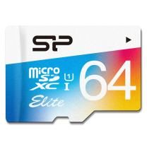 Silicon Power 64GB MicroSDHC UHS-1 Memory Card - with Adapter (SP064GBSTXBU1V20AI)