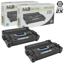LD Remanufactured Toner Cartridge Replacement for HP 25X CF325X High Yield (Black, 2-Pack)