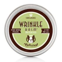 Natural Dog Company - Wrinkle Balm - Protects Dog's Skin Folds, Treats Dermatitis, Redness, Chafing, Inflammation - Organic, All-Natural Ingredients, Perfect for Bulldogs