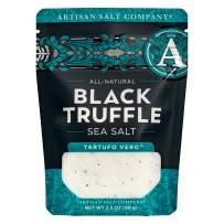 SaltWorks Tartufo Vero All-Natural Black Truffle Sea Salt, Artisan Zip-Top Pouch, 3.5 Ounce