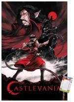 "Trends International Netflix Castlevania-Key Art Mount Wall Poster, 22.375"" x 34"", Poster & Mount Bundle"
