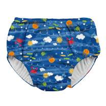 i play. by green sprouts Boys' Snap Reusable Absorbent Swimsuit Diaper, Royal Blue Sea Friends, 18 Months
