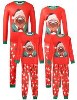SSLR Family Funny Pjs Long Sleeves 2-Piece Sleepwear Christmas Pajamas Sets