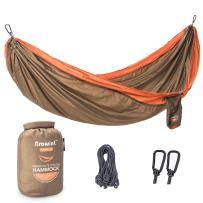 BROWINT Single Camping Hammock 12 Colors Lightweight & Unique 220T Parachute Nylon Portable Hammock, Best Outdoor Hammock for Backpacking, Camping, Hiking, Beach, Travel, Yard. 10' L x 5' W