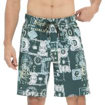 HOdo Men's Swim Trunks Quick Dry Shorts with Mesh Lining
