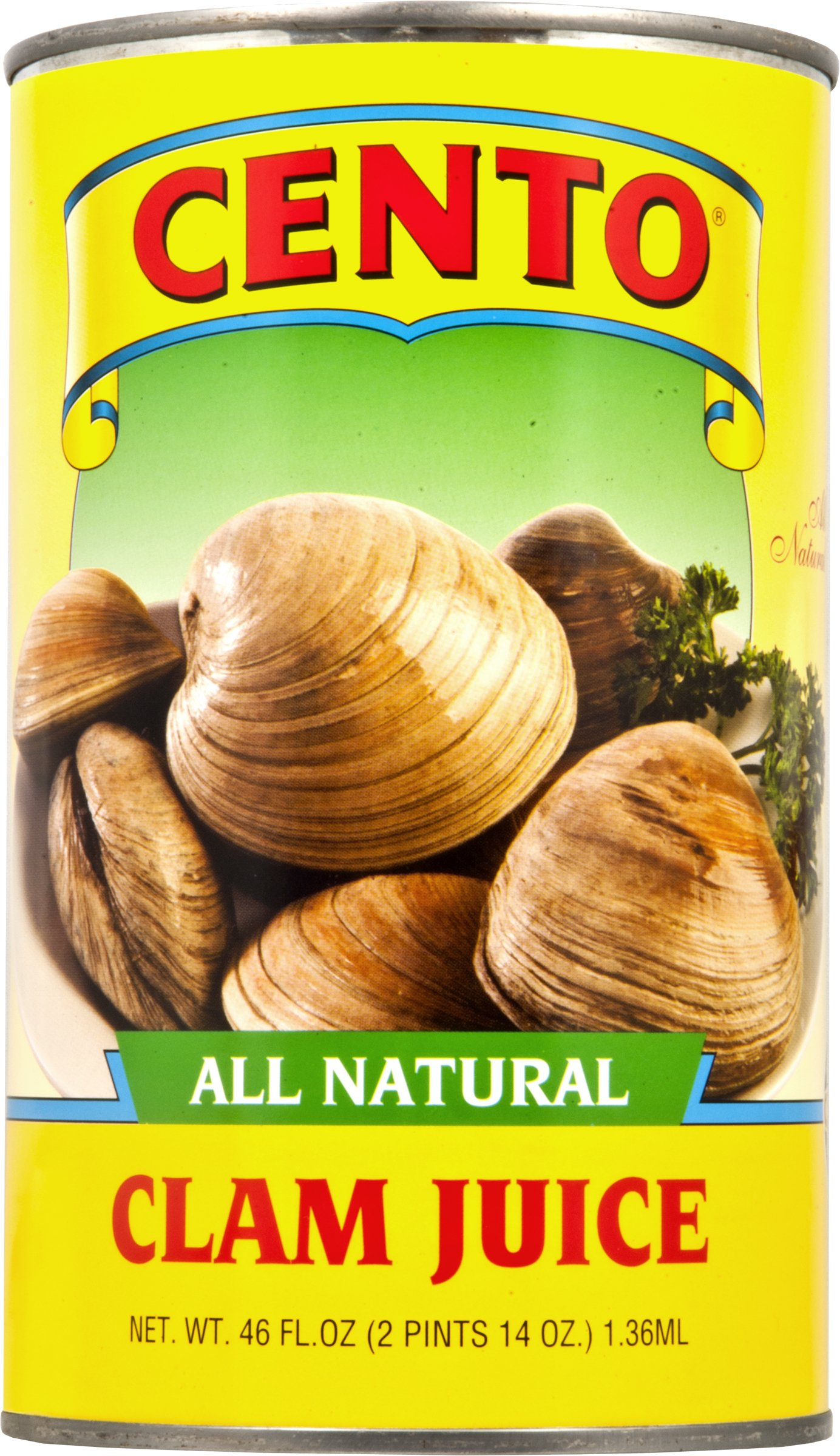 Cento All Natural Clam Juice, 46 Ounce (Pack of 12)