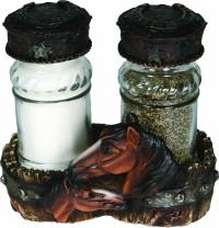 River's Edge Hand Painted Poly Resin Salt and Pepper Shaker Set