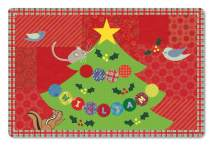 Kids Placemat Personalized with Child's Name, Custom Dining Table Mat, Unique Gift for Boys and Girls, Christmas Tree