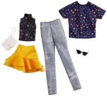 Barbie Fashion Pack with 1 Outfit of Star Top & Yellow Ruffled Skirt & 1 Accessory Doll & Star Shirt, Pants & Accessory for Ken Doll, Gift for 3 to 8 Year Olds