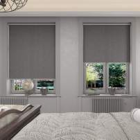 Changshade Cordless & Blackout Roller Shade, Room Darkening Rolled Up Shade, Fabric Window Blind, for Light Blocking /Sun Protection, 48 inches Wide, Gray ROL48GY72A
