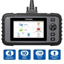 OBD2 Scanner TOPDON ArtiDiag500, Engine ABS SRS Transmission Scan Tool, All OBD2 Test Code Reader, AutoVIN Diagnostic Tool, Car Battery Voltage Test, Wi-Fi Free Update