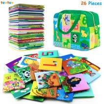 teytoy Baby Toy Animal Series 26pcs Soft Numbers and Animal Early Education Toy Cards with Cloth Bag for Baby Toys 6 to 12 Months