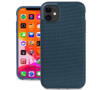 Evutec Ballistic Nylon iPhone 11 6.1 Inch, Unique Heavy Duty Premium Protective Military Grade Drop Tested Shockproof Phone Case Cover(AFIX+ Magnetic Mount Included) (Blue)