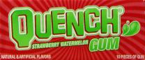 Quench Gum, Strawberry/Watermelon, 10 Count (Pack of 12)