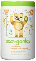 Babyganics Alcohol-Free Hand Sanitizer Wipes, Mandarin, 100 ct, Packaging May Vary