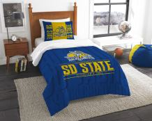 "Officially Licensed NCAA ""Modern Take"" Twin Comforter and Sham"