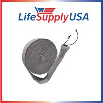 LifeSupplyUSA 30 ft Central Vacuum Knitted Hose Sock Cover with Application Tube (30 feet Length),