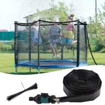 Minterest Trampoline Sprinkler Mist Cooling System, 12M Water Play Sprinklers Pipe for Kids Outdoor Fun Water Park Summer Games Yard Toys Waterpark