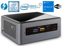 Intel NUC8i7BEH Mini PC/HTPC, Intel Core i7-8559U Up to 4.5GHz, 8GB DDR4, 120GB NVMe SSD, WiFi, Bluetooth 5.0, Thunderbolt 3, 4K Support, Dual Monitor Capable, Windows 10 Pro