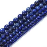 "Natural Stone Beads 16mm Lapis Lazuli Gemstone Round Loose Beads Crystal Energy Stone Healing Power for Jewelry Making DIY,1 Strand 15"""