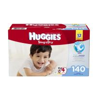 Huggies Snug and Dry Diapers, Size 4, 140 Count