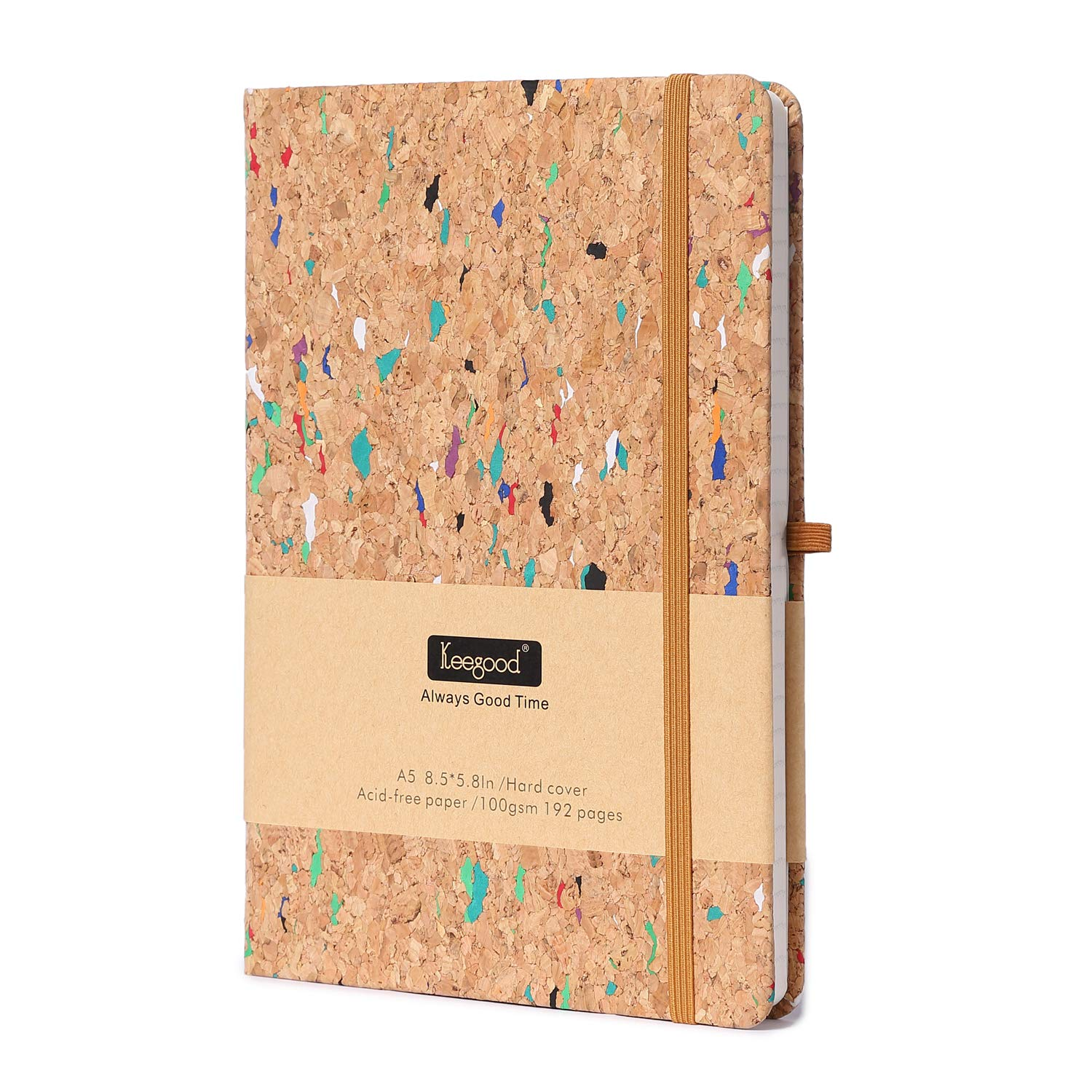 Dot Grid Paper Notebooks and Journals,Writing Journal with Pen loop,Dot Journal A5,Hard Cover Writing Notebook with Paper Pocket,8.5x 5.8IN,Wood Color, Premium Thick Paper 192 Pages for School Season