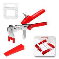 """Arshvyl Tile Leveling System With Push Plier - Tile leveling Kit Includes 400 PCS 1/8"""" Tile Spacers Clips and 200 PCS Reusable Wedges for Floor&Wall Leveling, DIY Tile Tools for Installation"""