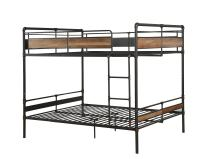 ACME Furniture 37730 Brantley II Bunk Bed, Sandy Black and Dark Bronze Hand-Brushed, Queen over Queen