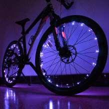 Fanzbike LED Bike Spoke Lights - 2Pack Waterproof Cycling Bicycle Wheel Lights Safety Tire Lights for Kids and Adults
