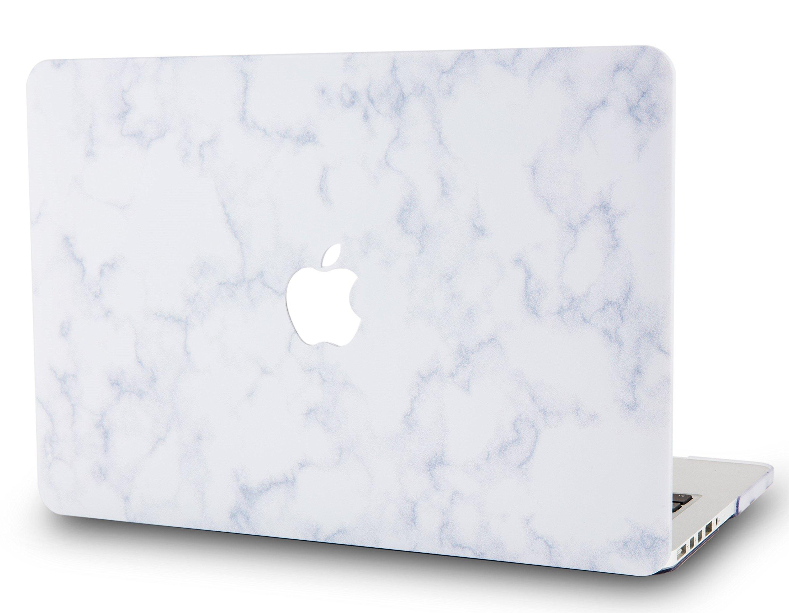 "LuvCaseLaptopCaseforOld MacBook Pro 13"" Retina Display (2015/2014/2013/2012 Release) A1502/A1425RubberizedPlasticHardShellCover (White Cloud Marble)"