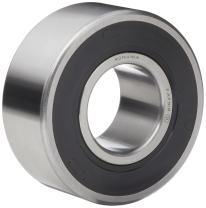 """Timken W305PP Ball Bearing, Double Sealed, No Snap Ring, Metric, 25 mm ID, 62 mm OD, 1"""" Width, Max RPM, 2750 lbs Static Load Capacity, 6000 lbs Dynamic Load Capacity"""