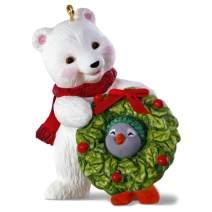 Hallmark Keepsake Christmas Ornament 2019 Year Dated Snowball and Tuxedo Decking The Halls Polar Bear and Penguin